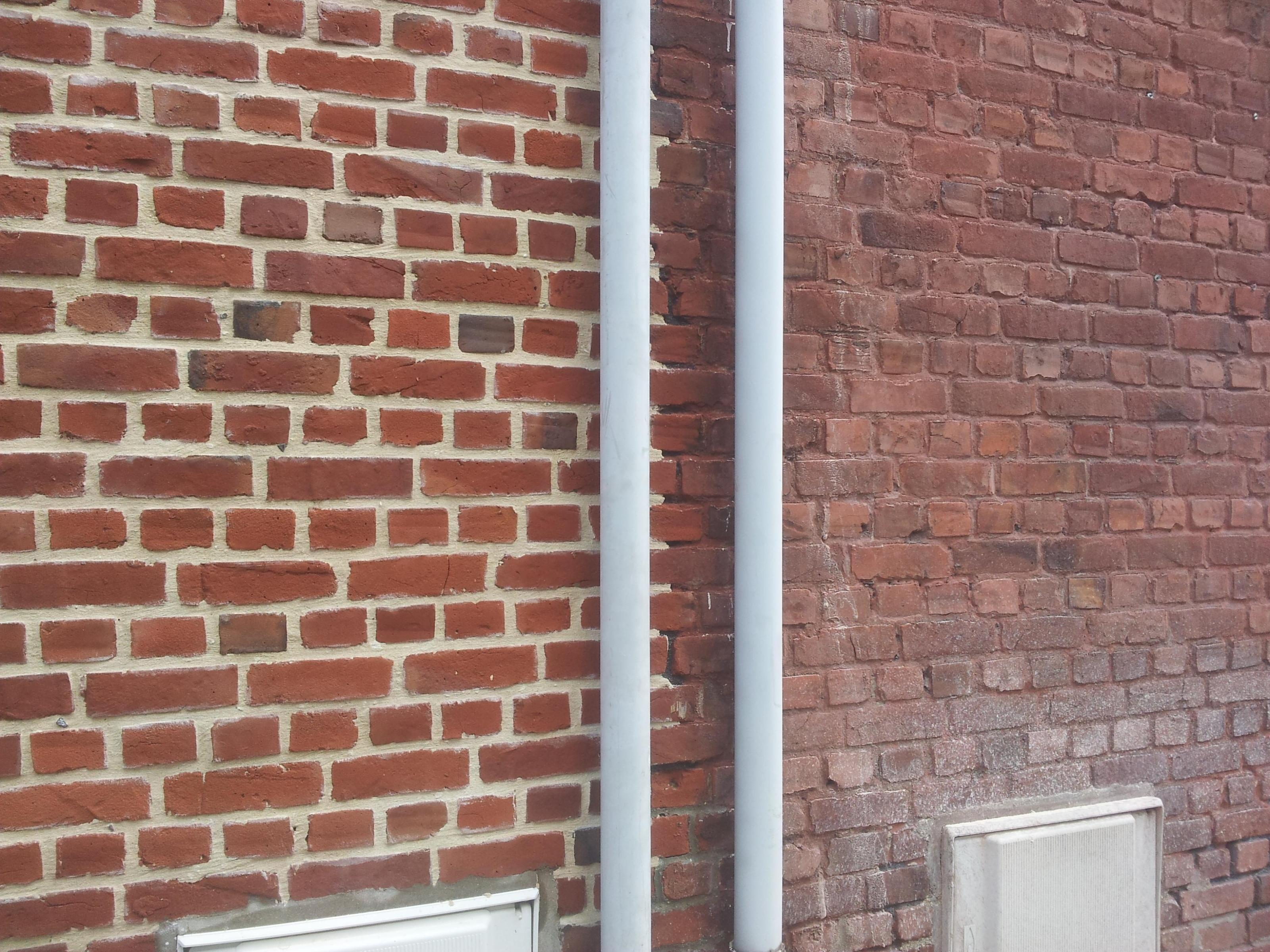 Sablage facade brique